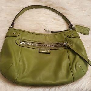 AUTHENTIC GREEN LEATHER COACH MINI BAG